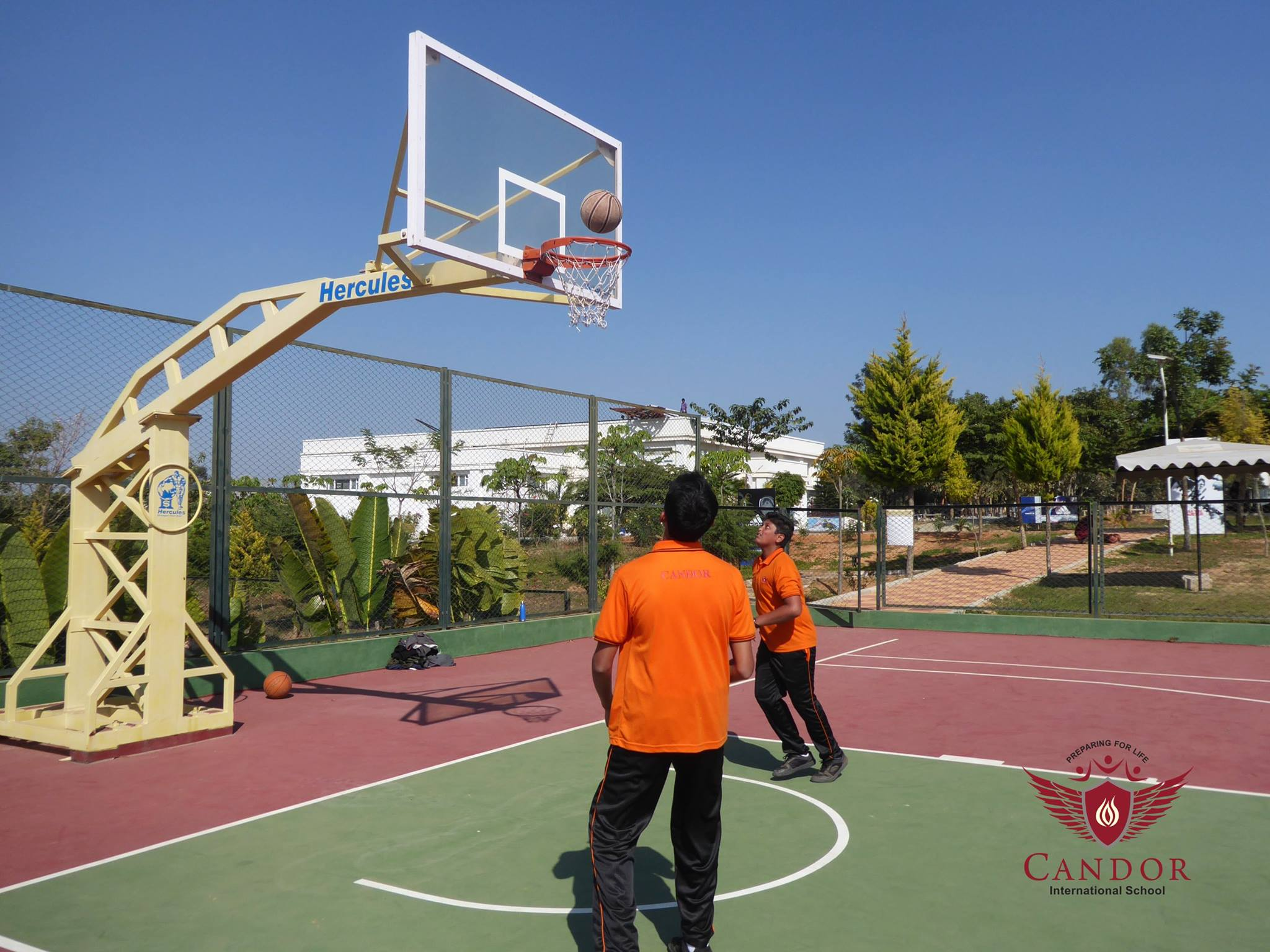 Basketball coaching session in progress