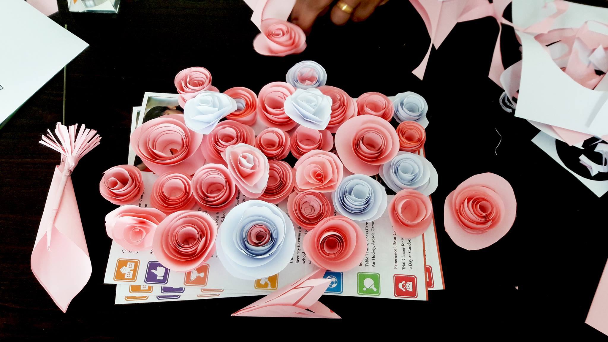 Creating something new! Pretty Pink & White roses!
