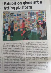 Exhibition gives art a fitting platform - March 9 , 2015 (Times of India)