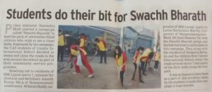 Students do their bit for Swachh Bharath - January 21, 2015 (Times of India)