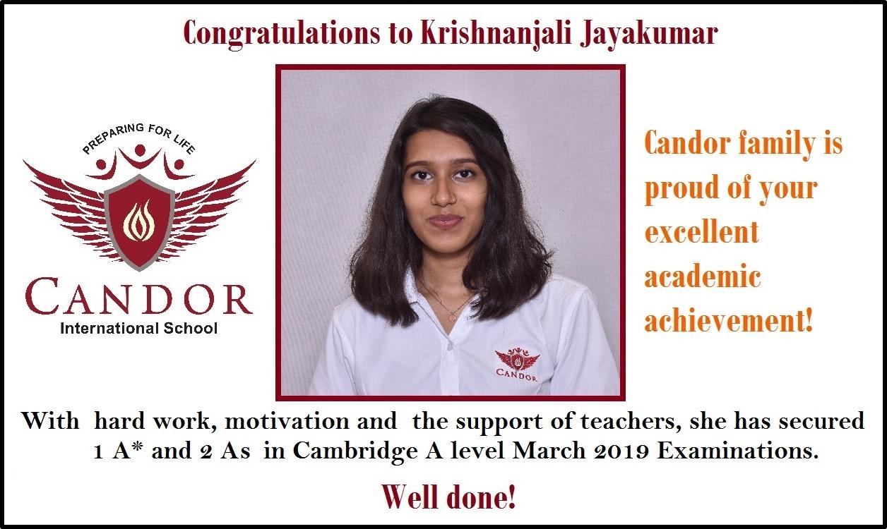 Krishnanjali Candor Student