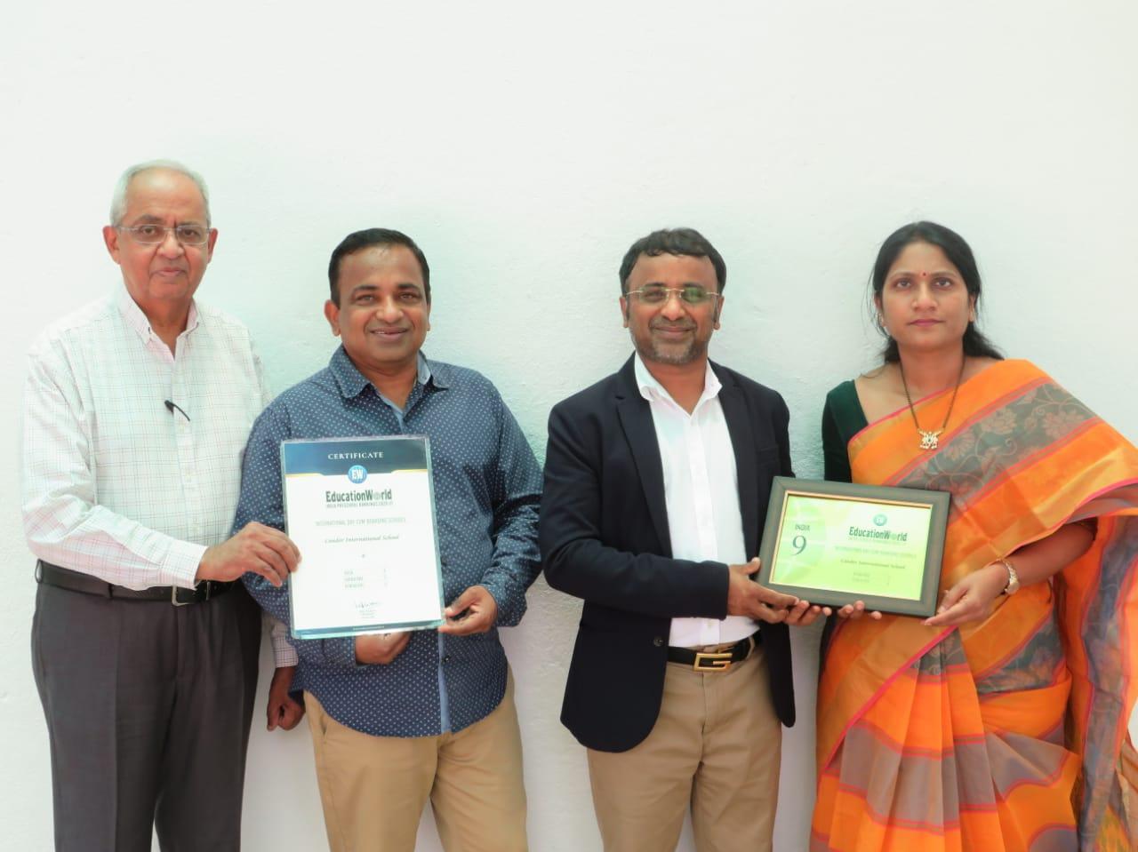 Candor Team with education world awards
