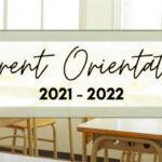 New Parents orientation 2021