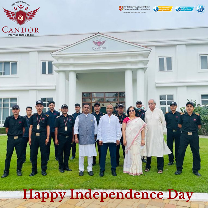 Self-reliant, self-supporting, self-sufficient. That is the India of our dreams. 75th Independence day celebration at Candor International School.